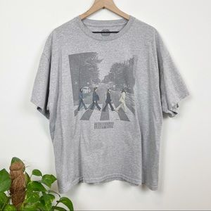 The Beatles Abbey Road Graphic Band T Shirt Gray